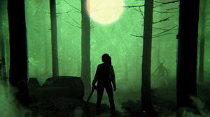 Fear The Walking Dead Green Alicia Clark Ftwd Simple Minimalism Zombies The Walking Dead 1920x1080 Wallpaper