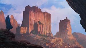 Artwork Digital Art Nature Mountains 1920x1080 wallpaper