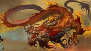 Chinese Dragon Dragon 2205x1080 Wallpaper