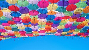 Artistic Colorful Colors Umbrella 1920x1200 wallpaper