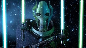 Blue Lightsaber Close Up General Grievous Green Lightsaber Lightsaber Yellow Eyes 1920x1080 Wallpaper