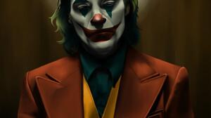 Joaquin Phoenix Portrait Fan Art Artwork Digital Art Digital Painting Makeup Green Hair Joker Joker  1920x1920 Wallpaper