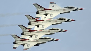 Aircraft General Dynamics F 16 Fighting Falcon Jet Fighter United States Air Force Thunderbirds 2900x1929 wallpaper