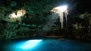 Cave Nature Sunbeam Water 2048x1365 Wallpaper