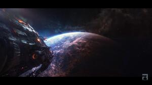Fabrizio Fioretti Artwork ArtStation Science Fiction Spaceship Planet Vehicle Digital Art 1920x1098 Wallpaper