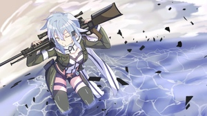 Sinon Sword Art Online 4752x2911 wallpaper