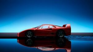 Car Ferrari F40 Reflection Side View Ferrari 1920x1200 Wallpaper