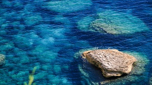 Nature Outdoors Blue Water Stones 2048x1365 Wallpaper