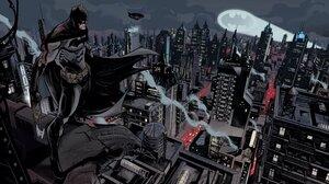 Batman DC Comics The Dark Knight Comics Artwork Gotham Gotham City Bat Signal 4096x2304 Wallpaper