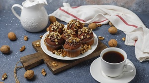 Coffee Cup Cupcake Drink Still Life 6000x3999 Wallpaper