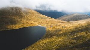 Landscape Lake Mountains Hills Clouds UK 6000x3376 Wallpaper