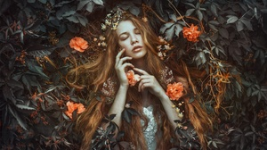 Girl Long Hair Lying Down Model Redhead Woman 2000x1333 Wallpaper