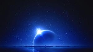 Starry Night Planet 1680x1117 Wallpaper