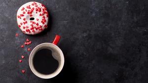Cup Doughnut Drink 5616x3744 wallpaper