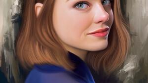 Stam Quito Digital Art Artwork Drawing Fan Art Portrait Portrait Display Digital Painting Emma Stone 2550x3186 Wallpaper