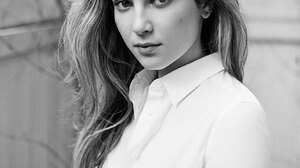 Zoe Levin Women Actress Monochrome Women Outdoors Long Hair 1330x1670 wallpaper