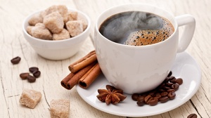 Cinnamon Coffee Cup Drink Sugar 2880x1800 wallpaper