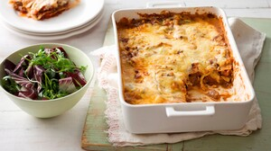 Food Lasagna Meal Salad 3000x2000 wallpaper