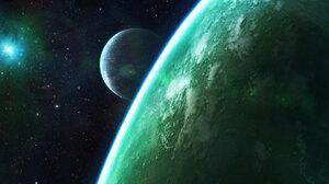 Sci Fi Planets 2560x1024 Wallpaper