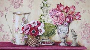 Flower Painting Pitcher Still Life Vase 1600x1331 Wallpaper