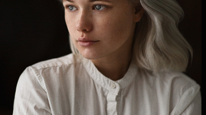 Mikhail Mikhailov White Hair Women Portrait Platinum Blonde 1280x1920 wallpaper