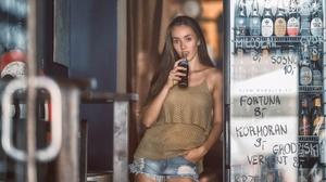 Girl Shorts Bottle 2222x1250 Wallpaper