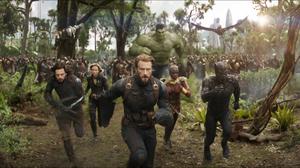 Avengers Infinity War Black Panther Marvel Comics Black Widow Bucky Barnes Captain America Chadwick  2048x1080 Wallpaper