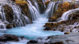 Earth Fall Rock Stream Waterfall 1920x1200 wallpaper