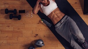 Women Model Sweat Pants Abs Sweatpants 2739x1826 Wallpaper