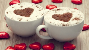 Chocolate Coffee Cup Heart Love 3830x2550 Wallpaper