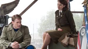 Women Men Actor Actress Movies Captain America The First Avenger Peggy Carter Hayley Atwell Chris Ev 1920x1200 Wallpaper