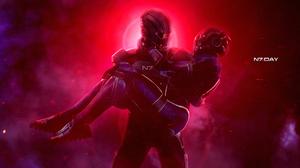 Ashley Williams Commander Shepard N7 Mass Effect Sci Fi 3840x2070 wallpaper