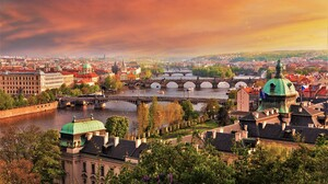 Bridge City Cityscape Czech Republic Prague River Town 4200x2800 wallpaper
