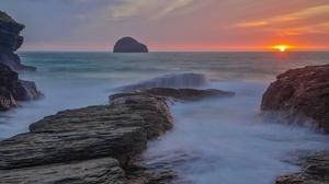 Australia Ocean Rock Sunset 3072x2048 Wallpaper