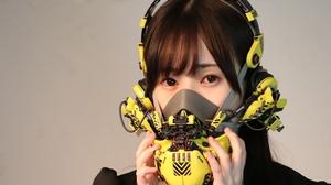 Women Cyberpunk Gas Masks Asian Mask Dark Hair Long Hair 1920x1280 Wallpaper