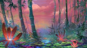 Bamboo Flower Jungle 1920x1080 Wallpaper