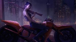 Futuristic Science Fiction Digital Art Concept Art Artwork Fantasy Art Fan Art 3D CGi Painting Close 3840x2000 Wallpaper