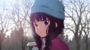 Blend S Blur Blush Braid Close Up Cup Girl Glove Hat Long Hair Maika Sakuranomiya Purple Eyes Purple 1900x1072 Wallpaper