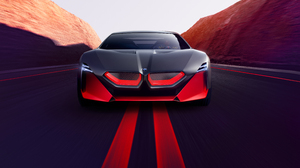 BMW Vision BMW Vision M NEXT Vehicle Car Artwork Sports Car Concept Car Concept Cars Lights Sun Rays 4961x3092 Wallpaper