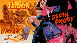 Movie Poster Artwork Digital Art Movies Zombies Death Proof Planet Terror Grindhouse 1920x1446 Wallpaper