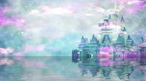 Artistic Castle Colorful Reflection Water 1920x1200 Wallpaper