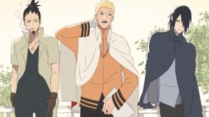Man Naruto Uzumaki Sasuke Uchiha Shikamaru Nara 2414x1527 Wallpaper