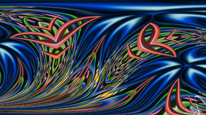 Abstract Colorful Digital Art Shapes Wave 1920x1080 Wallpaper
