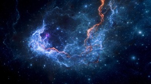 Nebula Stars Galaxy Universe Space Electric Lightning Andromeda 1760x1080 Wallpaper