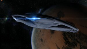 Frigate Mass Effect Salarian Mass Effect Starship 4400x2750 wallpaper
