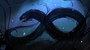 Digital Art Fantasy Art Leviathan Sea Serpent 1866x1050 wallpaper