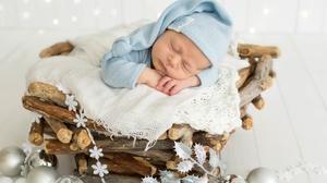 Baby Bauble Sleeping 5760x3840 Wallpaper