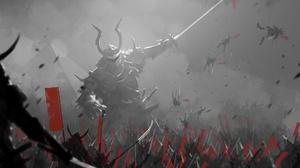 Battle Giant Samurai Sword Weapon 2414x1654 Wallpaper