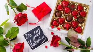 Chocolate Flower Red Flower Red Rose Rose Valentine 039 S Day 6016x4016 Wallpaper