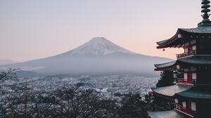 Mount Fuji Nature Landscape Japan Snowy Peak Volcano 2048x1332 Wallpaper